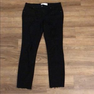 PacSun Jeans - pacsun jeans size 9. black with rips. low rise.
